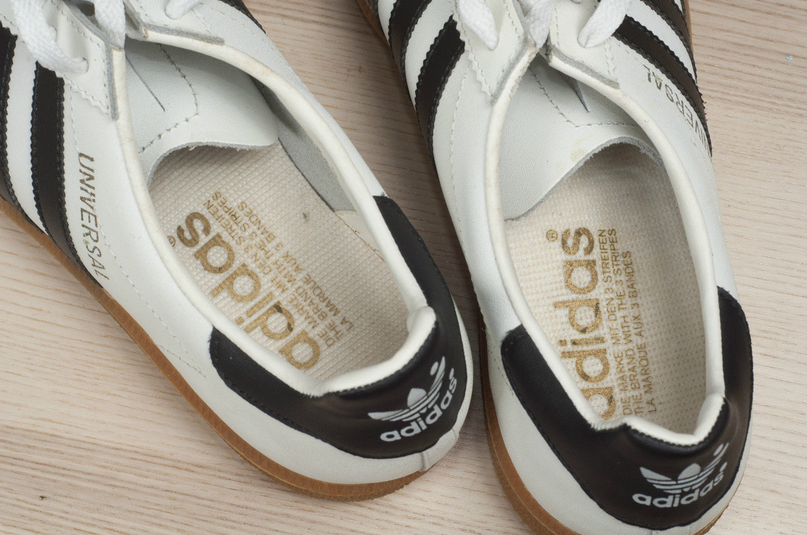 These Universal cropped up on EBay some time ago and they share some  similarities with our mystery pair. So they have an insole with adidas  written on it, ...